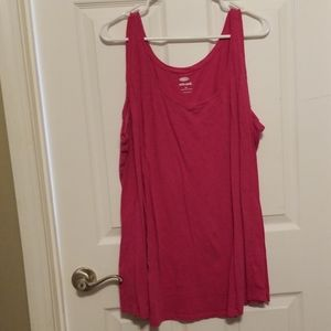 Old Navy Pink Tank Top Relaxed Fit 3X